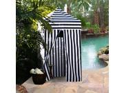 Apontus Striped Portable Changing Cabana Tent Patio Beach Pool Navy White