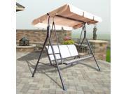 Outdoor 3 Person Canopy Swing Glider Hammock Patio Furniture Backyard Porch