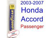 2003-2007 Honda Accord Wiper Blade (Passenger) (2004,2005,2006)
