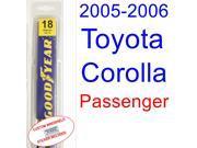 2005-2006 Toyota Corolla(XRS) Wiper Blade (Passenger)