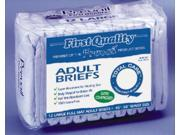 First Quality Incontinent Brief, Tab Closure, Disposable, Moderate Absorbency, Large  - 1 Bag of  18