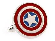 Captain America Avengers Shield Cufflinks (USA Seller)