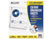 Deluxe Cd Ring Binder Storage Pages, Standard, Stores 8 Cds, 5/pk By: C-Line