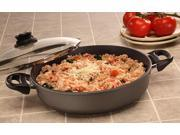 "Swiss Diamond Induction Nonstick Square Saute Pan with Lid - 2.1 qt (8 x 8"")"