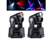 RGB 15W DMX Mini MOVING HEAD LED Party Stage DJ Disco Club Spot Light RGB color mixing Dimmer & Strobe Led Bar Stage Light