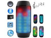 PULSE Wireless Bluetooth Speaker Magic Dancing Colorful Music Bluetooth Handsfree Headset 3 LED Lights For Party Music with FM Radio(Black)