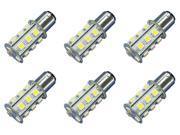 18x 5050 12V-24V LED Light Bulb Fits : BA15S - 1156 Cool white Marine Lighting - 6 Pack