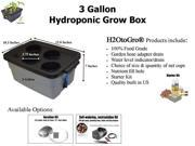 3-Gallon H2OtoGro® Hydroponic Bubbler Deep Water Culture Grow System ~ Grow herbs, flowers, fruits and vegetables all year round!