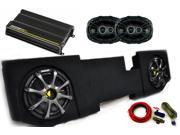 "Kicker Dodge Ram Quad / Crew Cab 02-15 -  12"" Comp D Subs under-seat w/ Kicker Grilles, CS 6x9s, 300 watt Amp & Wire kit"