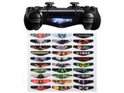 eXtremeRate 30 Pcs/Set Exclusive Limited Edition Game Theme Color Led Light Bar Lightbar Sticker Decal Skin Cover for Sony PS4 Playstation 4 Dualshock 4 Controller