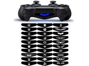 eXtremeRate 30 Pcs/Set Exclusive Light Bar Sticker Skin Decal Lightbar Cover for PS4 Playstation 4 Controller