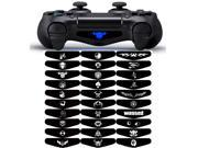 eXtremeRate Game Designer Pack of 30 Removable Light Bar Sticker Skin Decal Led Lightbar Cover for PS4 Dualshock 4 Controller