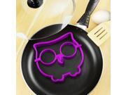 Breakfast Silicone Fried Egg Mold Pancake Egg Ring Shaper Funny Cooking Tool Purple,Owl