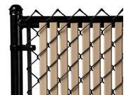 Chain Link Beige Double Wall (Tube) Privacy Slat For 4ft High Fence Bottom Lock