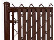 Chain Link Brown Double Wall (Tube) Privacy Slat For 4ft High Fence Bottom Lock
