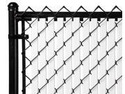 Chain Link White Double Wall (Tube) Privacy Slat For 4ft High Fence Bottom Lock