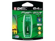 EKMMD64GB EMTEC C600 CANDY (GREEN), 64GB USB 2.0 FLASH DRIVE
