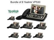 Yealink VP530 Bundle of 8 Executive Level IP Video Phone 4 Line 7? Touch HD PSU