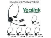 Yealink YHS32 Bundle of 6 Comfortable Ultra Noise Canceling Over-the-head style