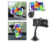 eForCity Samsung Galaxy S5 Windshield Phone Holder - Mount and Plate for Samsung Galaxy S5 / SV, Black