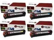 Laser Tek Services® 4 Pack Replacement HP 128A High Yield Toner Cartridges (CE320A, CE321A, CE322A, CE323A)