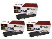 Laser Tek Services® 3 Pack Xerox Phaser 6600 High Yield Replacement Toner Cartridges (106R02225, 106R02226, 106R02227)