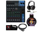Yamaha MG10 10-Input Stereo Mixer Bundle with Full-Size Headphones/Cables/Cleaning Cloth