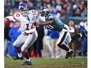 Brian Dawkins Eagles Signed Tackle vs Manning 16x20 Photograph SI Auth.