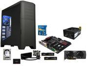 Intel Core i7-5960X Haswell-E 8-Core, Gigabyate GA-X99-SLI, HyperX FURY 16GB DDR4 2666, Corsair Hydro H100i CPU Liquid Cooler, ...