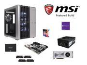 MSI Titanium Build: Intel Core i7-6700K 4.0GHz Quad-Core CPU, MSI Z170A XPOWER TITANIUM MOBO, CORSAIR Dominator 32GB DDR4 ...