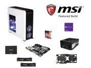 MSI Titanium Build: Intel Core i7-6700K 4.0GHz Quad-Core CPU, MSI Z170A XPOWER TITANIUM MOBO, HyperX Savage 16GB DDR4 MEM, ...