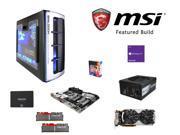MSI Titanium Build: Intel Core i7-6700K 4.0GHz Quad-Core CPU, MSI Z170A XPOWER TITANIUM MOBO, G.SKILL TridentZ 16GB DDR4 ...