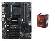 AMD FX-6300 Vishera 6-Core 3.5GHz CPU, GIGABYTE GA-990FXA-UD3 R5 AM3+ ATX MOBO
