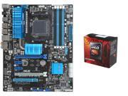 AMD FX-8320 Vishera 8-Core 3.5GHz (4.0GHz Turbo) CPU, ASUS M5A99X EVO R2.0 AM3+ ATX ...