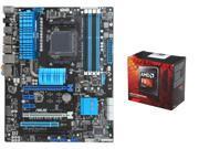 AMD FX-8350 Black Edition Vishera 8-Core 4.0GHz (4.2GHz Turbo) CPU, ASUS M5A99X EVO ...