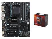 AMD FX-8350 Black Edition Vishera 8-Core 4.0GHz (4.2GHz Turbo) CPU, GIGABYTE GA-990FX AM3+ ATX MOBO