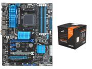 AMD FX-8370 w/ AMD Wraith Cooler / Vishera 8-Core 4.0GHz (4.3GHz Turbo) CPU, ASUS ...