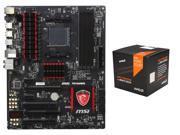 AMD FX-8370 w/ AMD Wraith Cooler / Vishera 8-Core 4.0GHz (4.3GHz Turbo) CPU, MSI Gaming ...