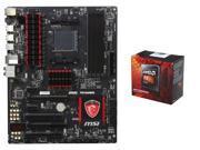 AMD FX-8350 Black Edition Vishera 8-Core 4.0GHz (4.2GHz Turbo) CPU, MSI Gaming 970 ...