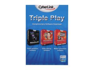 Cyberlink TRIPLE PLAY - Power Director 9 + MediaEspresso 6.5 + Photo Director 2011
