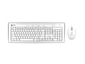 macally IKEY5COMBO Ice white USB Wired Slim Keyboard and Game Mouse Combo
