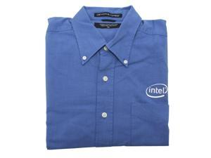 Intel 100% Cotton-Blue Shirt W ----LG - OEM