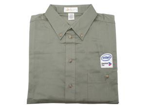 Intel CMT Duo SAGE button Down 100% Cotton Shirt----XL - OEM