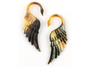 Mother of Pearl Swan Design Shell Ear Plug - 4g