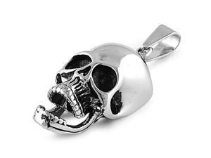 Steel Pendant - Skull