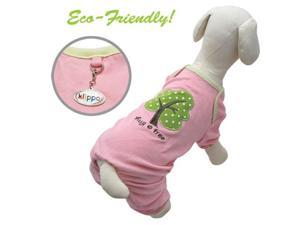 "Eco-Friendly! Soy Fiber + Cotton ""Hug A Tree"" Dog Pajamas -Pink - M"