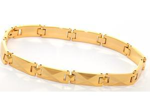 "8"" x 1/4"" Electroplated 18K gold Narrow tungsten carbide bracelet with facets"