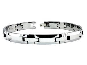Giovanni Men's Tungsten Carbide Link Bracelet