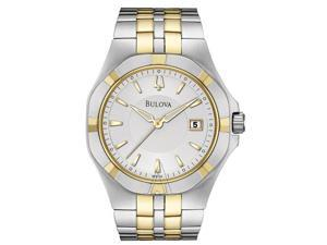 Bulova Men's 98B136 Silver White Dial Bracelet Watch