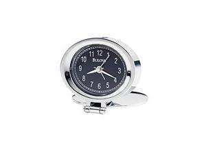 Bulova Travel Adamo Black Dial Alarm Clock #B6842